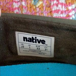 Native Shoes - Kids Native shoes, size 2